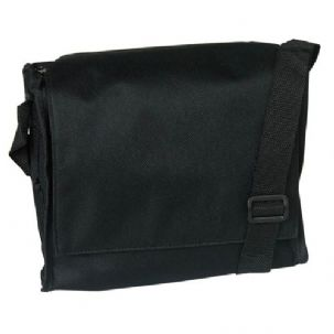 Black Polyester Shoulder Bag